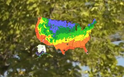 Hardiness Zone Map—Northern California